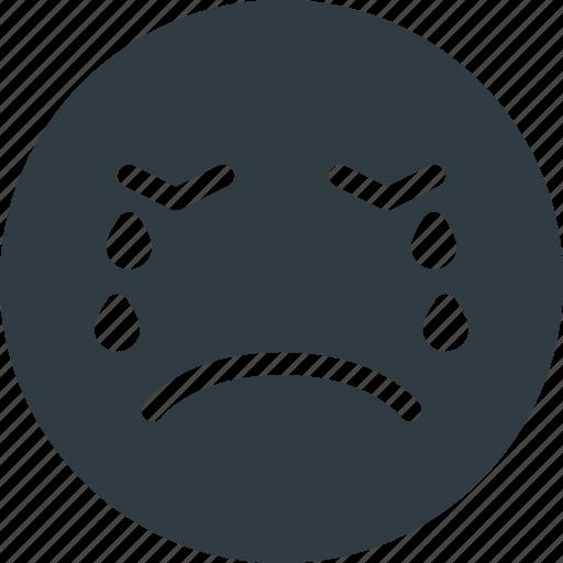 cry, emoji, emote, emoticon, emoticons icon