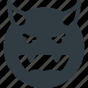 devil, emoji, emote, emoticon, emoticons