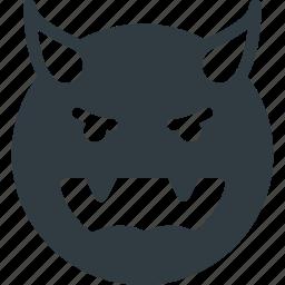 devil, emoji, emote, emoticon, emoticons icon