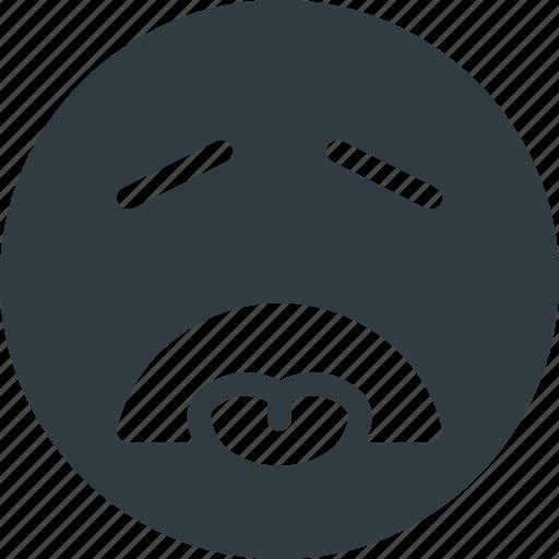 disgusted, emoji, emote, emoticon, emoticons icon