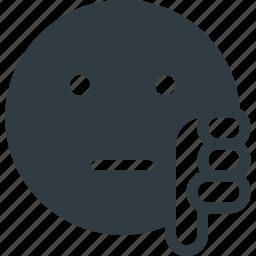 dislike, emoji, emote, emoticon, emoticons icon