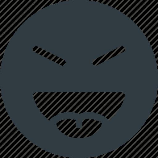 emoji, emote, emoticon, emoticons, evil, stretch, tongue icon