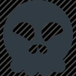 emoji, emote, emoticon, emoticons, happy, skull icon