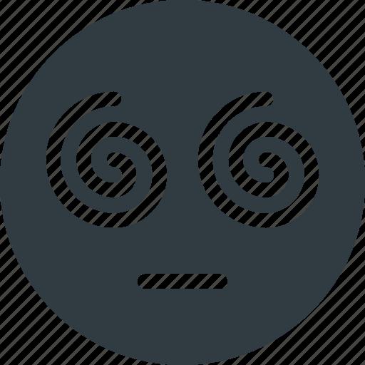 emoji, emote, emoticon, emoticons, hypnotized icon