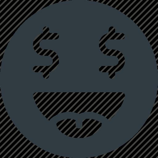 emoji, emote, emoticon, emoticons, money icon
