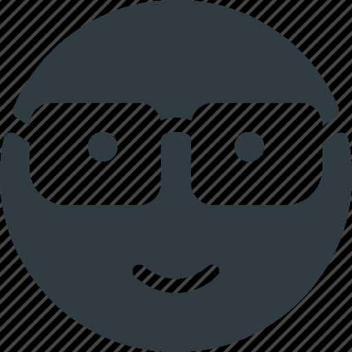 emoji, emote, emoticon, emoticons, nerd icon