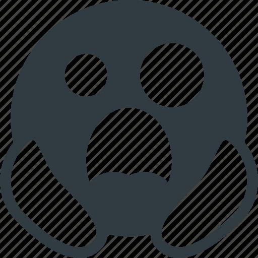 death, emoji, emote, emoticon, emoticons, scared, to icon