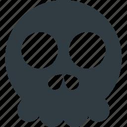 emoji, emote, emoticon, emoticons, skull icon