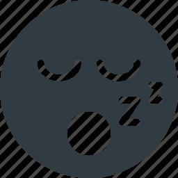 emoji, emote, emoticon, emoticons, snoring icon