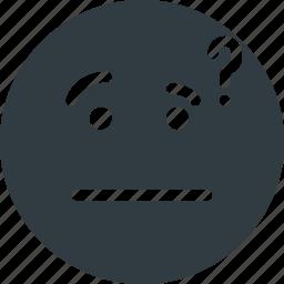 emoji, emote, emoticon, emoticons, thinking icon