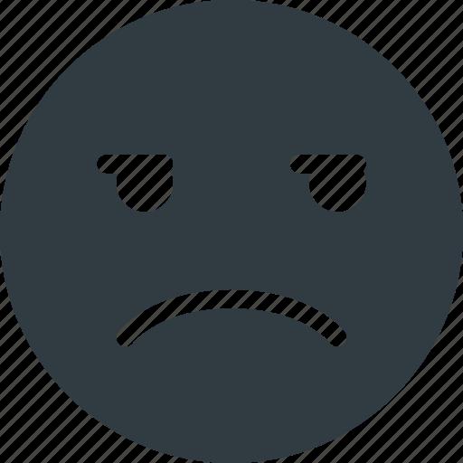 emoji, emote, emoticon, emoticons, unamused icon