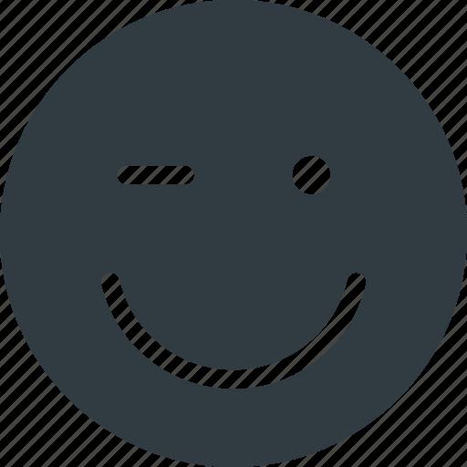 emoji, emote, emoticon, emoticons, wink icon