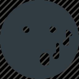 emoji, emote, emoticon, emoticons, wistling icon