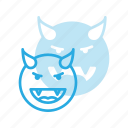 devil, emoji, emote, emoticon, emoticons icon