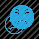 emoji, emote, emoticon, emoticons, grumpy icon