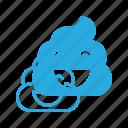 emoji, emote, emoticon, emoticons, happy, poo icon