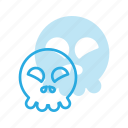 emoji, emote, emoticon, emoticons, happy, skull icon