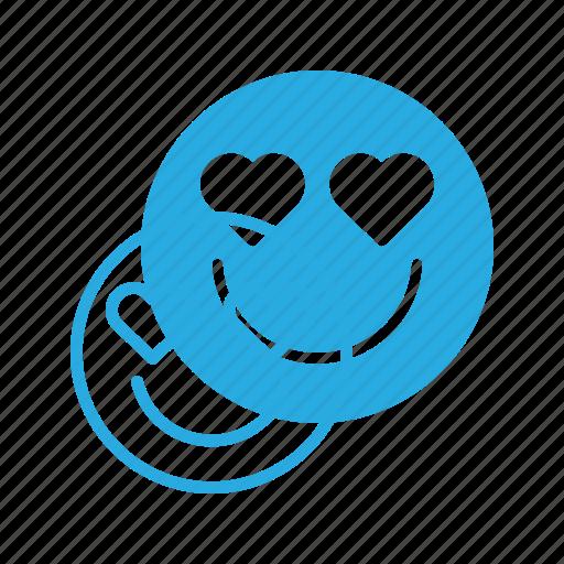 emoji, emote, emoticon, emoticons, in, love icon
