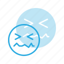 emoji, emote, emoticon, emoticons, in, pain icon