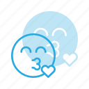 emoji, emote, emoticon, emoticons, kiss icon