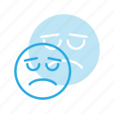 emoji, emote, emoticon, emoticons, sad icon