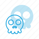 emoji, emote, emoticon, emoticons, skull icon