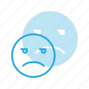 emoji, emote, emoticon, emoticons, unamused icon