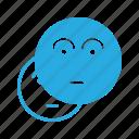 emoji, emote, emoticon, emoticons, wondering icon