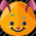 bunny, emoji, feeling, happy icon