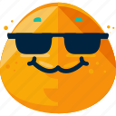 cool, emoji, face, happy icon