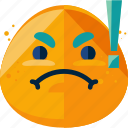 danger, emoji, feeling, furious icon