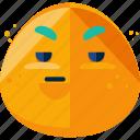 emoji, emoticon, feeling, irritated icon