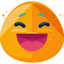 emoji, emoticons, laugh, smile icon