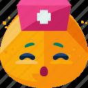 doctor, emoji, nurse, woman icon