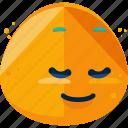 emoji, feeling, happy, shy icon