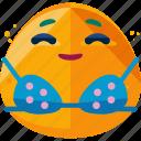 bath, emoji, emoticon, sun, sunny icon