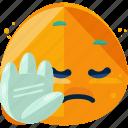 emoji, emoticons, expression, upset icon