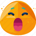 emoji, emoticon, feeling, yawn icon