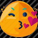 emoji, face, feeling, kiss icon