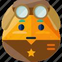 emoji, emotion, man, pilot icon