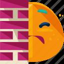 emoji, emotion, hiding, hiring icon