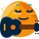 emoji, guitar, music, player icon