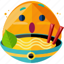 emoji, food, noodles, spaghetti icon