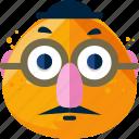 emoji, feeling, humorist, unreasonable icon
