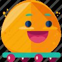 emoji, game, play, skateboard icon