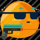 emoji, feeling, hitman, spy icon