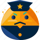 crime, emoji, expression, policeman icon