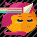 emoji, emoticon, fairy, unicorn icon