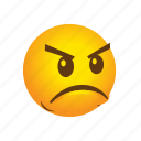 angry, emoticon icon