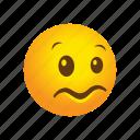 confused, emoticon, yikes icon